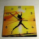 Часы настенные, стеклянные