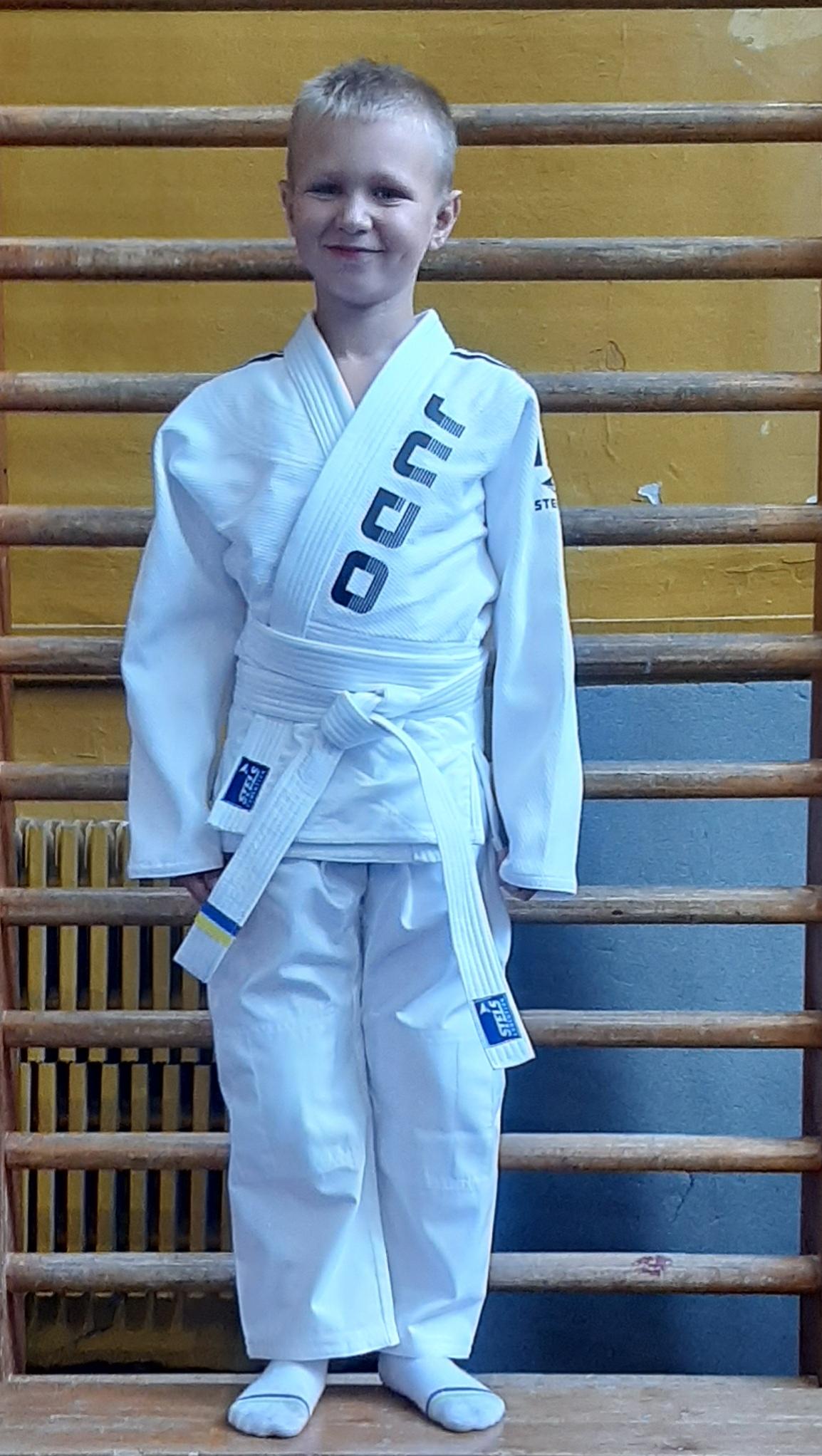 Кимоно для Дзюдо детское белое, с поясом